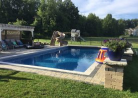 Landscaped pool and yard